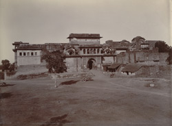 Front view of the Old Palace, Kumbher, 10 miles from Bharatpur
